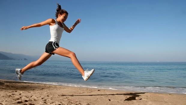 Correr en la playa
