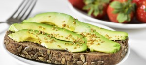 avocado toast and strawberries
