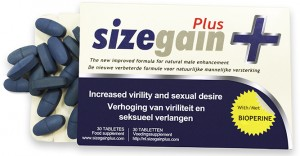 Caja con pastillas SizeGain Plus